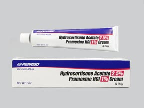 HYDROCORTISONE ACETATE/PRAMOXINE HCL CREAM CRM 2 5%/1% 30GM